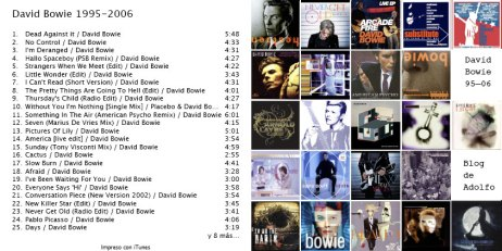 Bowie CD 95-06
