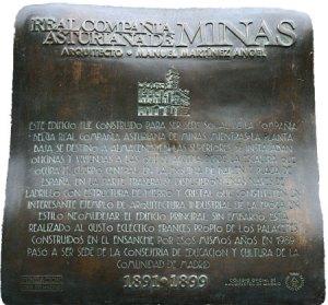 Placa del edificio