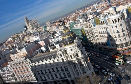 Vista de Alcalá y Gran Via