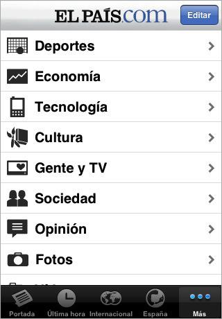 El País en el iPhone