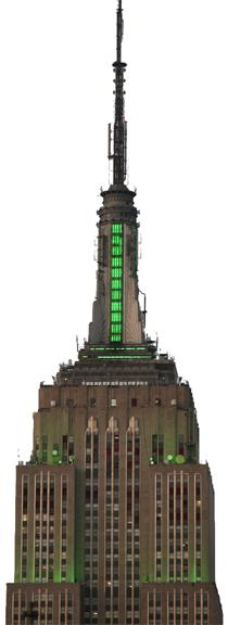 El Empire State el día de San Patricio