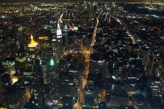 Nueva York por la noche, desde el Empire State