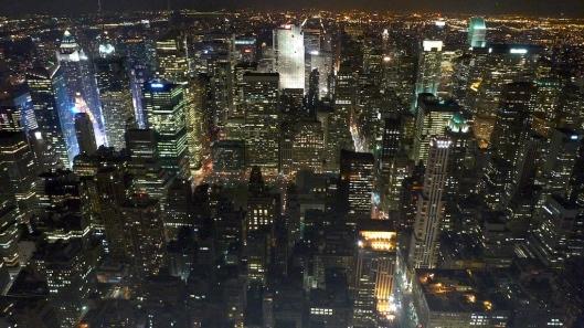 Manhattan por la noche, desde el Empire State.