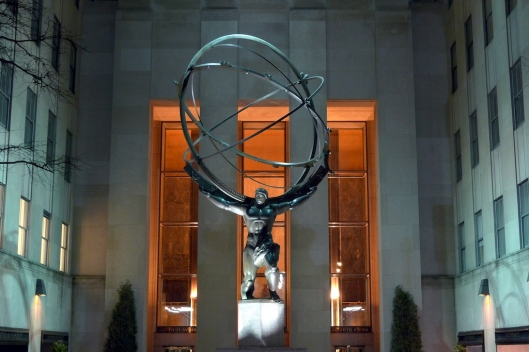 Estatua de Atlas, en el Rockefeller Center