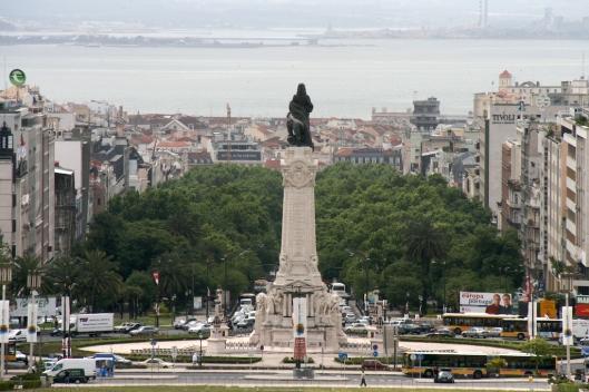 Vista desde la Plaza del Marqués de Pombal