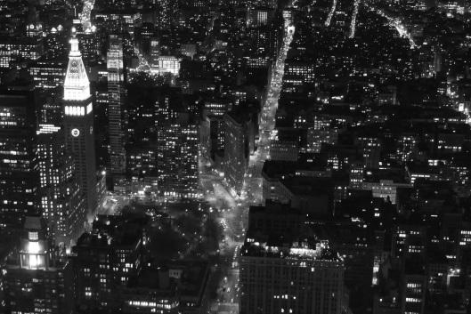 Vista nocturna de Nueva York