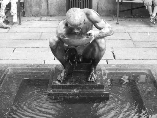 Escultura de una fuente de Oslo