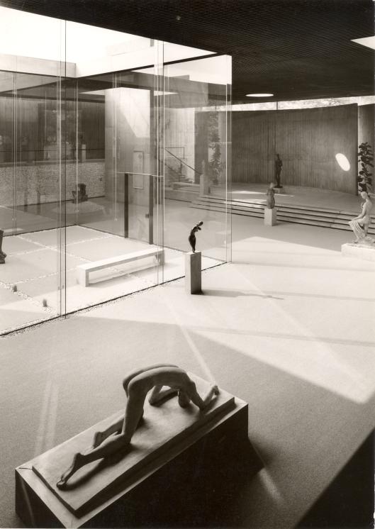 El caído, en el Lehmbruck Museum