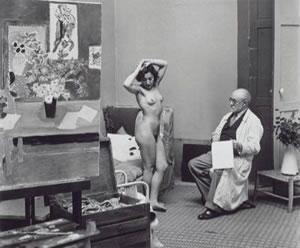 Henri Matisse y una modelo