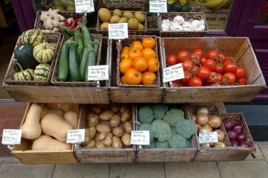 Frutería y tienda de productos ecológicos en Lambs Conduit Street