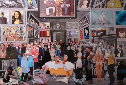 """Un original collage de la exposición """"Young Masters"""""""