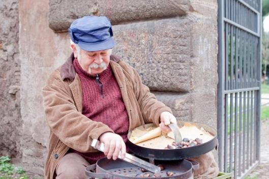 Vendedor de castañas