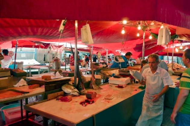 Mercado del pescado de Catania
