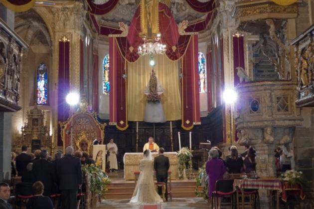 Boda en la catedral de Enna