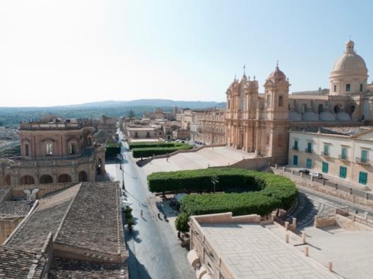 Vista de Noto desde Santa Chiara