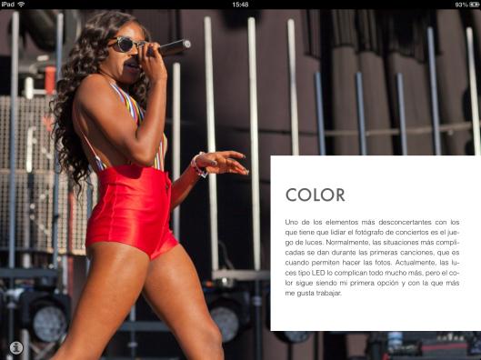 Portada del capítulo dedicado a las fotografías en color.