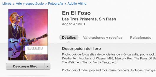 """El photobook """"En El Foso"""" en la iBooks Store."""