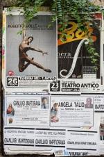 Ocio en Taormina: ballet, ópera y funerales (increíble que se anuncien así).