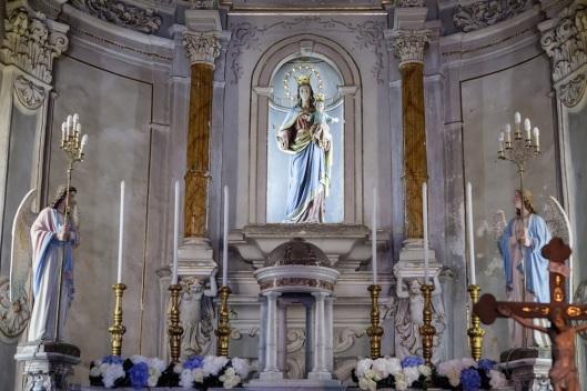 La iglesia de San Giuseppe es barroca y casi kitsch.