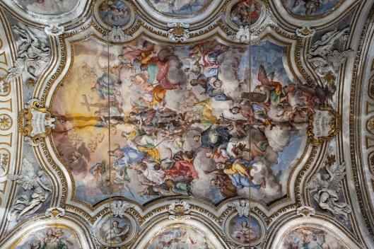 Detalle de un fresco de Santa Caterina.