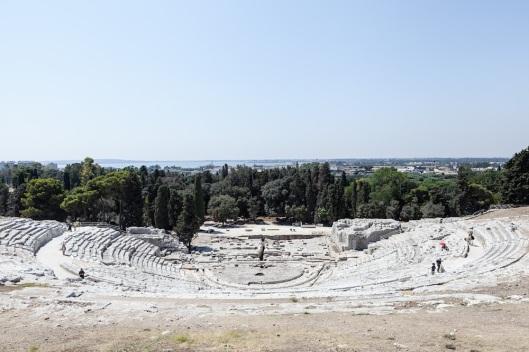 Vista general del Teatro Griego de Siracusa.