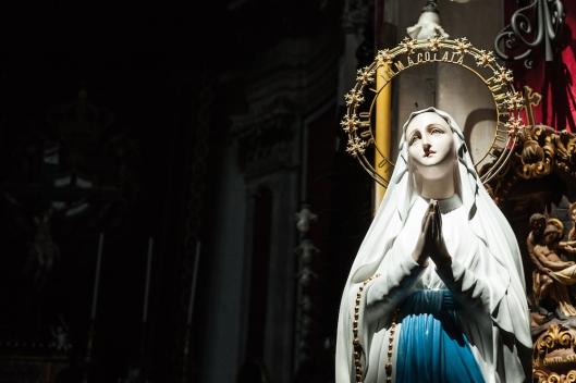 Imagen de la Inmaculada, junto al altar de San Giorgio.