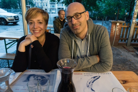Cristina y Fernando en la terraza de Il Casolare.