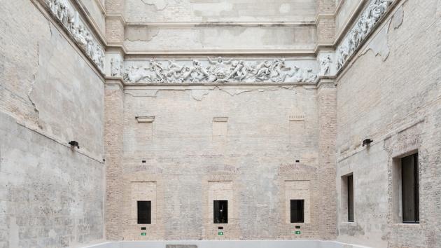 Neues Museum. Patio interior.