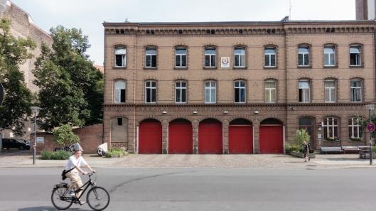 Parque de bomberos en Oderbergerstraße.